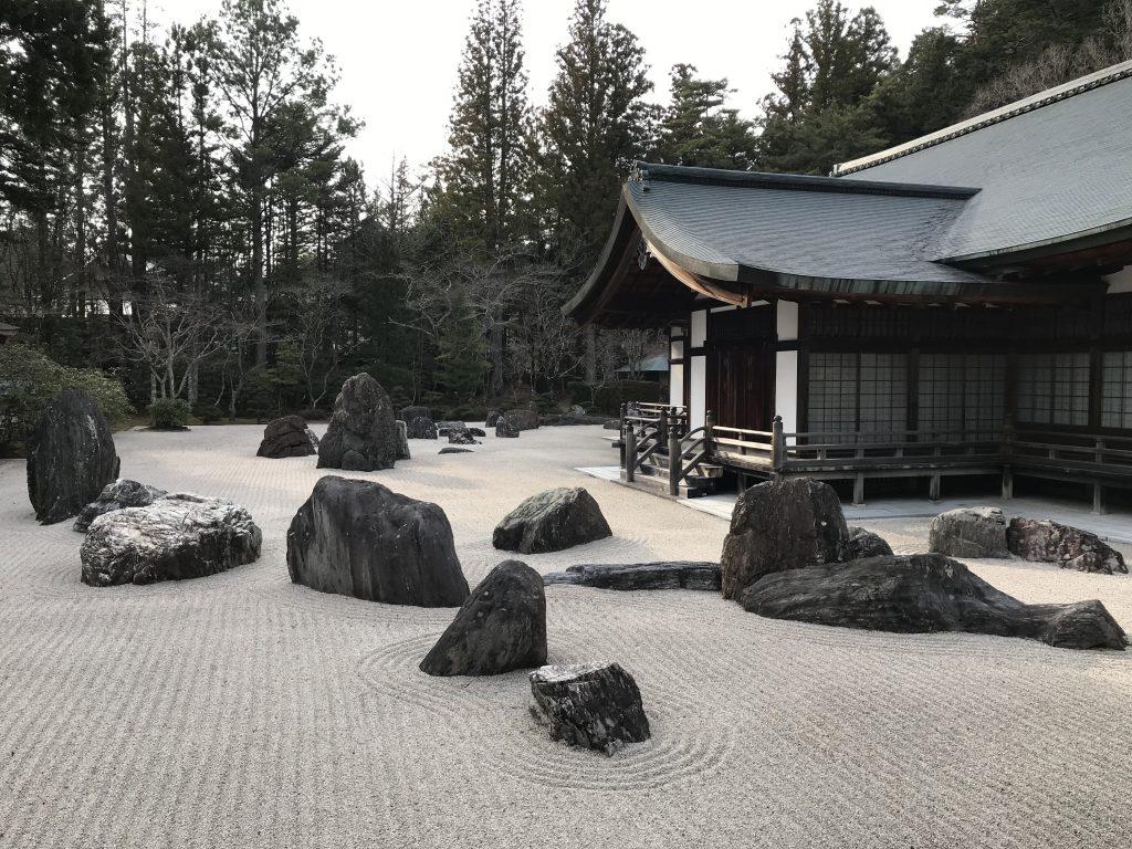 Steingarten Kongobu-ji Tempel