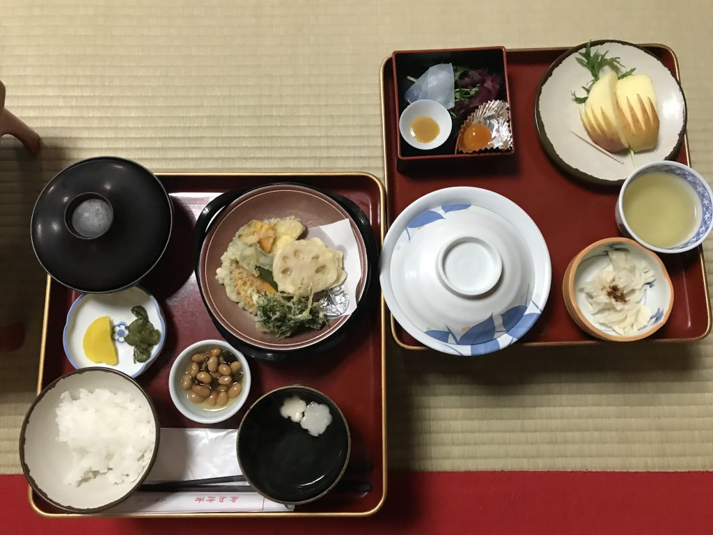 Abendessen Sekisho-in